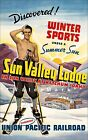 Sun Valley Idaho 1936 Ketchum Union Pacific Railroad Vintage Poster Print