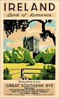 Ireland 1930 Land Of Romance Vintage Poster Print Travel Europe Castles Art