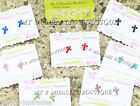 Small CROSS EARRINGS Birthstone First 1st Communion Girl Confirmation Tiny Gift