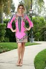 New Women's Long Sleeve Party Cocktail Casual Mini Dress Pink S M L XL USA