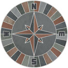 16 Mosaic Medallion Nautical Compass Slate Quarry Tile Backsplash Wall Flooring