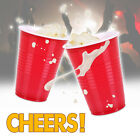 AMERICAN 160z LARGE PLASTIC RED PARTY CUPS SOLO BEER PONG DISPOSABLE RESUABLE