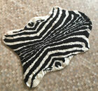 ANIMAL HIDE ZEBRA PRINT FAUX FUR RUG SOFT NON SLIP WASHABLE COMES IN 3 SIZES