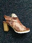 Felmini 9424 texas + lazer nut  brown leather heeled sandal leather