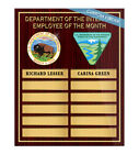 Employee Of The Month Plaque-With Gold Sleeves-Free Shipping | GOV (CEOMG)