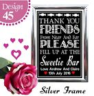 PERSONALISED WEDDING SIGNS CANDY CART SWEETS TREATS SWEETIE TABLE CHALKBOARD