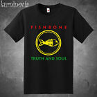 Fishbone Truth and Soul Logo Rock Band Men's Black T-Shirt Size S to 3XL image