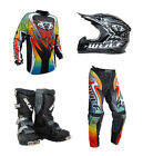 Kids MX Motocross Wulfsport 2017 ATTACK Pant Shirt Helmet Boot Multi Set #X4