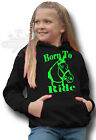 HORSE PONY RIDING HOODIE Equestrian KIDS ADULTS HOODIE BORN TO RIDE FRONT PRINT