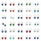 Glitter Jersey Earring Dangle NFL Pick Your Team $6.97 USD on eBay