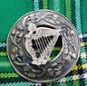 More images of Traditional Irish Harp Kilt Fly Plaid Brooch Antique Finish 3 / Scottish Brooches
