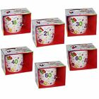 Gift Boxed Age Birthday Mug Cup Colourful Numbers - 18 21 30 40 50 60 or 70