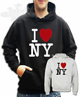 CLASSIC RETRO I LOVE N.Y NEW YORK HOODIE Available in all sizes I LOVE NEW YORK