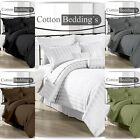 Best Price 1000 TC UK 100% Egyptian Cotton Striped Fitted/Flat/Duvet/Pillow Case