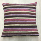 Twinkle Chenille Plum/ Lilac/ Aubergine Stripe Cushion Cover Come's In 2 Sizes