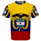 New Colombia Coat of arms Flag Sublimated Men's Sport Mesh T-Shirt  XS-3XL