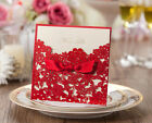 Red wedding invitation cards kit CW5086, with envelopes, seals, custom printing