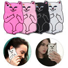 3D Cartoon Pocket Cat Silicone Rubber Case For iPhone 7 6 6s Plus 5 5s SE 4 4s