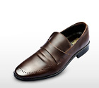[Brand New] The GADAE Mens GDH206 Black Brown Leather Hand made Dress shoes