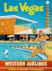Las Vegas Nevada Western Air Vintage Poster Print Travel Western Playgrounds