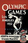 Olympics 1932 Los Angeles California North Western Railroad Vintage Poster Print