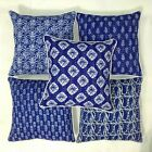 "16"" Indian kantha Throw Cushion Cover Pillow Cases Floral Vintage Home Decor Lot"