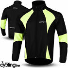 Winter Men Cycling Jacket Thermal Fleece Windproof Windstoper Long Sleeve Hiviz