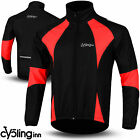 Winter Men Cycling Jacket Thermal Fleece Windproof Windstoper Long Sleeve Red