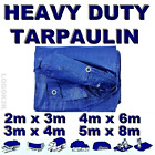 4 Sizes Of Heavy Duty Tarpaulin Waterproof Cover Tarp Ground Camping Sheet