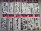 Large Set Black Assorted Stick on Jewellery Temporary Tattoos - 12 Designs