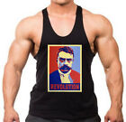 Men's Zapata Revolution Black Stringer Tank Top Mexican Beast Workout Gym Tee