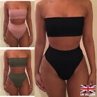 Womens Push Up Swimwear Bandage Bra Bikini Set High Waist Swimsuit Bathing Suit