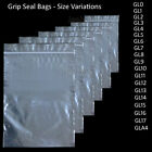 1000 Grip Seal Bags Self Resealable Mini Grip Poly Plastic Clear Zip Lock