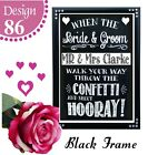 PERSONALISED CHALKBOARD SIGN PERSONALISED WEDDING CONFETTI BUBBLES SIGN