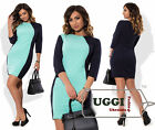 Stylish Woman Dress Crepe-Diving 3/4 Sleeve Mini Above Knee Bodycon- Plus size
