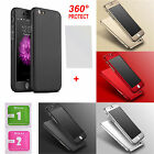 NEW HYBRID 360° HARD ULTRA THIN CASE + TEMPERED GLASS COVER FOR IPHONE 6 6+ 7 7+