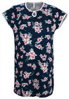 Navy Cherry Blossoms Keyhole Nightie