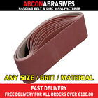 10 x Abrasive Sanding Portable Belts 75x457mm (P36-P500) Manufactured in Ireland