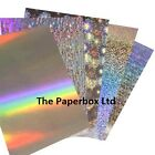 A4 Holographic Card - premium card, choice of patterns