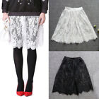 Women Full Slip Lace Hem Skirt Extender Knee Length Dress Extender A Line Skirt
