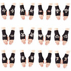 Collection of Black Fingerless Stretch Knit Gloves with various Diamante Designs