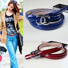 New Fashion Women Genuine Leather Belt Waistband Metal Letter C Buckle