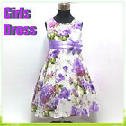 Purples Communion Christening Christmas Flower Girls Dresses AGE 2,4,6,8,10,12Y