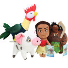 Disney Moana Maui Heihei Pig Pua Plush Figures Dolls Stuffed Soft Kids Toys Gift