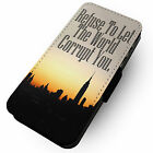 Refuse To Let The World Corrupt You - Faux Leather Flip Phone Cover Case Jesus
