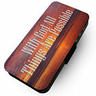 With God All Things Are Possible - Faux Leather Flip Phone Cover Case Jesus