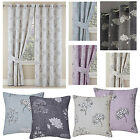 Tiffany Blackout Thermal Ring Top Curtains Duck Egg, Grey, Lilac or Natural