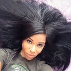 "12-20""Italia Yaki 100% Remy Human Hair Wigs Full Lace/ Lace Front Wigs Baby Hair"