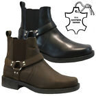 MENS NEW LEATHER COMBAT SLIP ON COWBOY MILITARY ARMY BIKER BOOTS SHOES SIZE