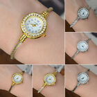 Fashion Women Girl Cuff Steel Wire Crystal Quartz Bracelet Bangle Wrist Watches image